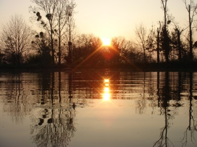 Sunrise over pond