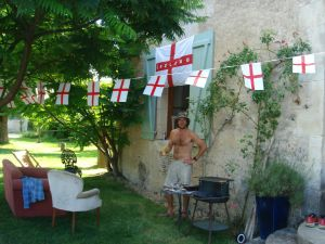 The last time I stand under an England flag