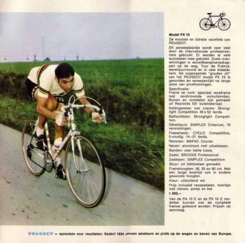 Eddie Merckx on a PK10 in the 1969 Tour de France